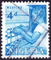 NIGERIA 1961 QEII4d Blue SG94 FU - Nigeria (1961-...)