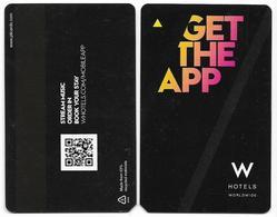 W Hotels, Worldwide, Used Magnetic Hotel Room Key Card #  W-2 - Hotelkarten