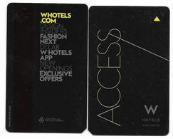 W Hotels, Worldwide, Used Magnetic Hotel Room Key Card #  W-3 - Hotelkarten