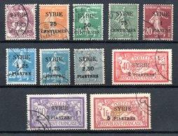 Syrie  Syrien Y&T 105° - 110°, 110° (papier GC), 113° - 116° - Syrien (1919-1945)