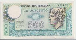 ITALY  P. 94 500 L 1976 VF - [ 2] 1946-… : Republiek