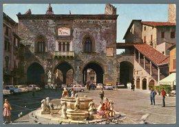°°° Cartolina - Bergamo Piazza Vecchia Viaggiata °°° - Bergamo