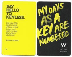 W Hotels, Worldwide, Used Contactless Hotel Room Key Card #  W-10 - Hotelkarten