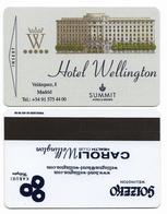 Hotel Wellington, Madid, Spain Tarjeta Magnética Llave De Hotel, Usada, Wellington-1 - Hotelkarten