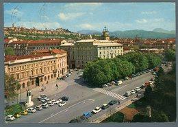 °°° Cartolina - Bergamo Piazza Matteotti Sullo Sfondo La Città Alta Viaggiata °°° - Bergamo