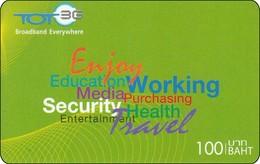 Thailand Phonecard TOT New Enjoy Working - Thailand