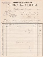 11-A.Vidal & Fils..Manufacture De Confection..Chalabre...(Aude)..1953 - Kleidung & Textil