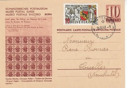 Suisse - Entier Postal - Oblitération Le  16/09/1941 - Avec Complément - Musée Postal Suisse - Stamped Stationery