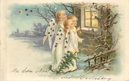 ANGELOTS - Thème De Noël.(carte Vendue En L'état) - Engelen