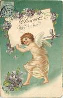 ANGELOT - Bonne Fête,fleurs Violettes. - Engelen