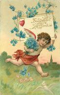 ANGELOT - Souvenir D'amitié.(carte Gaufrée) - Engelen