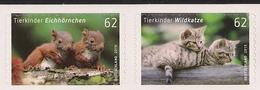 2015 Allem Fed. Deutschland  Mi. 3129-30  ** MNH    Tierbabys - [7] Repubblica Federale