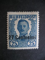 ITALY Austrian Occupation Emperor Karl 27c 1918 MH - Austrian Occupation