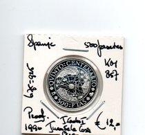 SPANJE 500 PESETAS 1990 ZILVER PROOF JUAN DE LA COSA - 500 Peseta