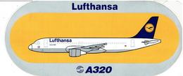 AIRBUS - Sticker: LUFTHANSA - A-320 - Stickers