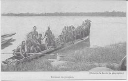 Auguste Béchaud (attribué à ) - Congo Français - Yakomas En Pirogues - - Congo Français - Autres