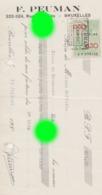 Bruxelles  Forest Rue Des Alliés 1937 PEUMAN - Bills Of Exchange