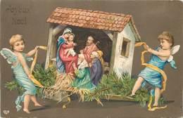 ANGELOTS  - Joyeux Noël, Crèche De Noël.(carte Gaufrée) - Engelen