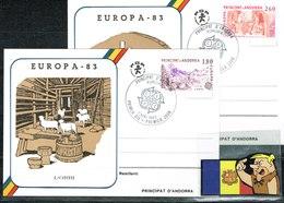 ANDORRA ANDORRE FDP  PREMIER JOUR EUROPA 83- 2 DOC. - Zonder Classificatie