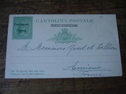 Italia Cartonlina Postale  Surcharge Centesimi Trenta Entier Postal Stationery Card Stationnery - Italië