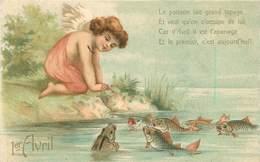 ANGELOT  - 1er Avril, Carte Illustrée - Engelen