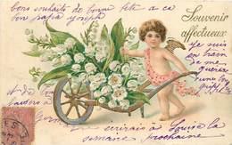 ANGELOT  - Souvenir Affectueux, Muguet.(carte Gaufrée) - Engelen