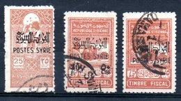 Syrie Timbres Fiscaux Syrien Fiskalmarken Y&T 284° - 286° - Syria (1919-1945)