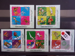 YEMEN JEMEN YAR MI-NR 1486/90 MNH/NEUF** GOLD MEDAL WINNERS ITALY - Yemen