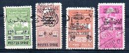 Syrie Timbres Fiscaux Syrien Fiskalmarken Y&T 288° - 291° - Syria (1919-1945)