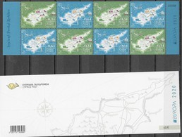 CYPRUS, 2020, MNH, EUROPA, TRANSPORT ROUTES,CAMELS, WHALES, TRAINS, SHIPS, HORSES, IMPERFORATE BOOKLET - Europa-CEPT