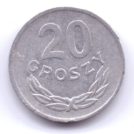 POLSKA 1980: 20 Groszy, Y# A47 - Polonia