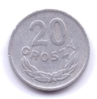 POLSKA 1961: 20 Groszy, Y# A47 - Polonia
