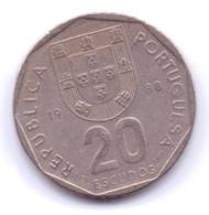 PORTUGAL 1988: 20 Escudos, KM 634 - Portugal