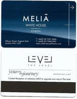 Meliá White House, London, U.K., Used Magnetic Hotel Room Key Card # Melia-112 - Cartes D'hotel