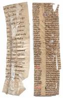 Lot De 2 Fragments De Pages Manuscrites Et Enluminées XIIIe Siècle ? - Manuscripts