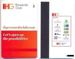 IHG Rewards Club, Used, Magnetic Hotel Room Key Card # Ihg-1a   Inter-Continental, Etc - Cartes D'hotel
