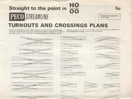 Catalogue PECO 1962 Streamline HO OO Turnoutd And Crossing Plans - Boeken En Tijdschriften