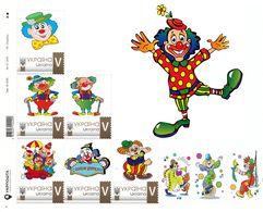 Ukraine 2020, Circus, Clowns, Sheetlet Of 6v - Ukraine
