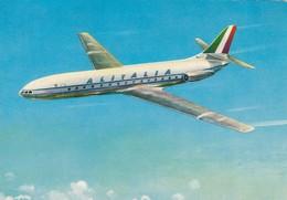 AEROPLANO-AIRPLANE-AVION-FLUGZEUG-ALITALIA-CARAVELLE III S E 210-CARTOLINA VERA FOTOGRAFIA-NON  VIAGGIATA - 1946-....: Modern Era