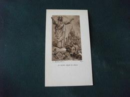 SANTINO HOLY PICTURE LE SACRE COEUR DE JESUS BAUZON 8444 A. ROBLOT PARIS - Godsdienst & Esoterisme