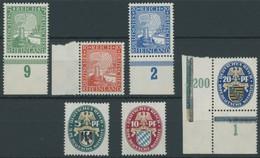 Dt. Reich 372-77 **, 1925, Rheinland Und Nothilfe, 2 Postfrische Prachtsätze, Mi. 110.- - Germany