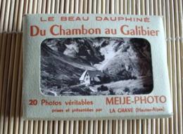 05   -   DU CHAMBON AU GALIBIER PETIT CARNET MEIJE DE 20 PHOTOS FORMAT 9 CM Sur 7 CM @ TOUTES LES PHOTOS - France