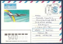 LITHUANIA 1991 Dezember●Provisory Stationery Cover From Prienai To Germany - Lituania
