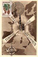 V29 France - Congrès Du Mouvement Fédéraliste Européen O.E.C.E. C.E.C.A. EURATOM Marché Commun - Strasbourg - 1957  TTB - Europese Gedachte