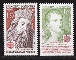 Andorre Français - Andorra 1980 Y&T N°284 à 285 - Michel N°305 à 306 *** - EUROPA - Andorra Francesa