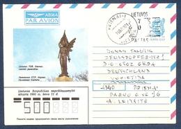 LITHUANIA 1992 Mai●Provisory Stationery Cover From Prienai To Germany - Lituania