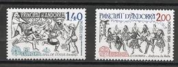 Andorre Français - Andorra 1981 Y&T N°292 à 293 - Michel N°313 à 314 *** - EUROPA - Andorra Francesa
