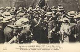 Arrivée Du CIRCUIT EUROPEEN  1911 à Vincennes André Beaumont 1e Du Classement Général Devant Le Hangat Bleriot - Meetings