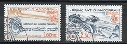 Andorre Français - Andorra 1982 Y&T N°300 à 301 - Michel N°321 à 322 (o) - EUROPA - Usados