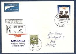 Lithuania 1993●Airplane LITUANICA●Transport●Pilots Darius&Girenas●R-Cover - Lituania